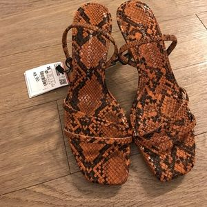 Brand new never been worn Zara heels
